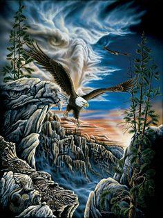 10 Eagles hidden in this puzzle. Artist: Stephen Michael Gardner
