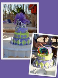 Purple princess rainbow cake!!!