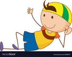 Little boy Royalty Free Vector Image - VectorStock , Free Vector Images, Vector Free, Royalty Free Clipart, Simple Cartoon, Cute Boys, Little Boys, Adobe Illustrator, Pikachu, Pdf