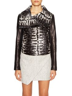Short Printed Jacket  from Fall Leather Must-Haves on Gilt