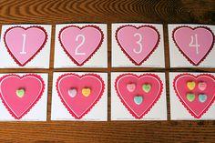Montessori-Inspired Valentine Math Trays