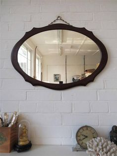 Hey, I found this really awesome Etsy listing at https://www.etsy.com/listing/214830581/vintage-large-oval-wall-mirror-with