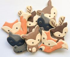 Woodland creature cookies forrest cookies by Cupcaitsandcake
