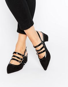How cute are these Glamorous Sling Point Mid Heeled Shoes? Wear for a fashion forward office look or dress up for a night out on the town.