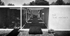 "1964 Case Study Apartments No. 1 (Originally Case Study House No. 28)   Architect: Alfred ""Al"" Beadle   Contractor: F. and F. Construction Co.   Location: 4402 28th Street, Phoenix , AZ"