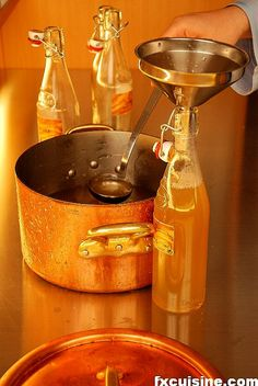 Homemade Orgeat Syrup.  (Almond and  Orange flower water syrup)  So Wonderful in a glass of water with Ice.  My mom used to give me this treat as a kid.