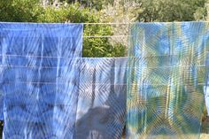 blaue Arashi-Schals