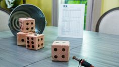 "@kennethwingard's DIY Oversized Yahtzee Dice w/ a downloadable ""Home and Family"" Scorecard!"
