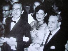 Nikos Kazantzakis with Melina Mercouri & Jules Dassin in the 50s