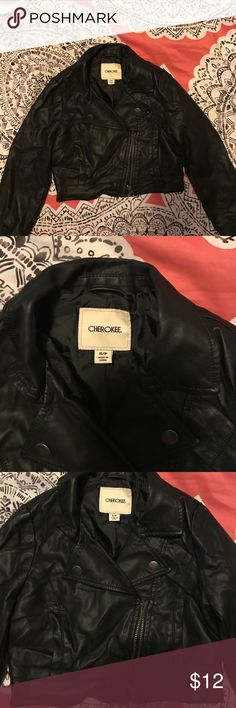 Girls fake leather jacket Fake leather jacket for girls. Worn once. In good condition. Cherokee Jackets & Coats