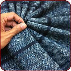 Vintage tribal Hmong textile, indigo, from Oriental Tribe. $39.99. Handwoven organic hemp fabric made in Thailand. Beautiful tribal prints with the potential to be made into almost any type of clothing.