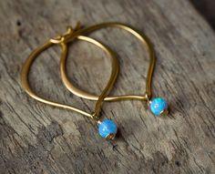 15% OFF Gold Opal Earrings Opal Earrings by AlisonStorryJewelry