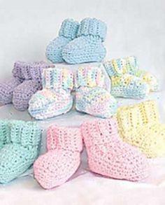 Free Crochet Pattern: Bibs Booties (Booties): Crochet by Bernat Design Studio More