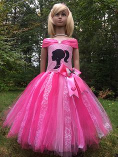 Excited to share this item from my shop: BARBIE inspired tutu dress holidays fancy Tulle pink costume. any Princess available Barbie Birthday Party, Birthday Party Outfits, Barbie Party, 4th Birthday, Barbie Costume, Pink Costume, Barbie Dress, Tulle Costumes, Princess Outfits