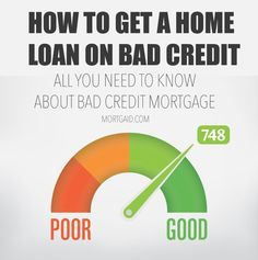 """When poor credit score makes getting a home loan difficult. Learn all about """"bad credit mortgages"""" and how to get a home loan in spite of a shaky credit rating."""