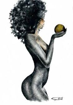 Female figurative art 6 Figurative painting nude art by SABATTARTYou can find Black women art and more on our website.Female figurative art 6 Figurative painting nude art by SABATTART Black Art Painting, Black Artwork, Woman Painting, Figure Painting, Sexy Painting, Art Black Love, Black Girl Art, Art Afro, Tableau Pop Art