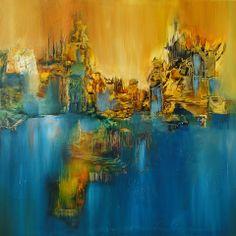 """""""La llegada al paraíso"""" - Monica Medina - Oleo sobre tela - 90 x 80 cm www.esencialismo.com"""