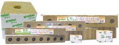 "grodan GRODAN STONEWOOL GRO-BLOCKS - DELTA 8 - MEDIUM 4"" W/HOLES - 4"" X 4"" X 3"" (6 BLOCKS/STRIP) (30 STRIPS/CASE) 713075 . $209.38"