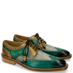 Derby Schuhe Marvin 1 Green Clear Water Cedro
