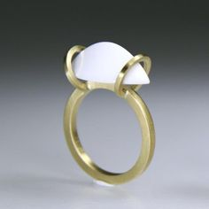Between Us Ring, 18K Gold, Agate 26x20x8,5mm, ECNP Galeri, Ela Cindoruk & Nazan Pak