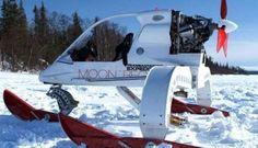 Hélicoptère en ski sur la neige, insolite ! #hélico #neige #insolite #chainesbox   Plus d'infos sur notre blog : blog.chainesbox.com , article : véhicules insolites sur neige.