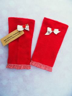 Stulpen+Armstulpen++Handschuhe++Rose+Schleife+von+Zellmann+Fashion+auf+DaWanda.com