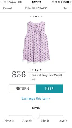 StitchFix 10/25/17....is this pink?  I can't do pink but if it is lavender, that works. See what it says on your end.  Love the style for layering.