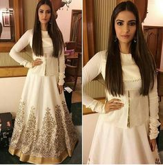 Sonam Kapoor in Rohit Bal for her movie Prem Ratan Dhan Paayo Promotion