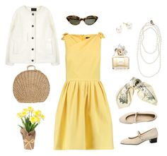 """""""springtime"""" by krissykrissy12 on Polyvore featuring Raoul, American Apparel, Hermès, Majorica and Marc Jacobs"""