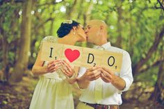 I DO - Wedding photo props - Featured on A Darling Affair