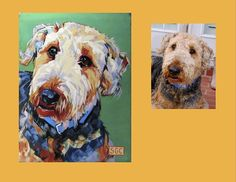 """Tanner"" is an Airedale.   This is his Color Dog Portrait.  www.colordogs.com"
