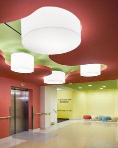 Elevator lobby, Elizabeth Seton Pediatric Center, Yonkers, N.Y. Copyright Chris Cooper.
