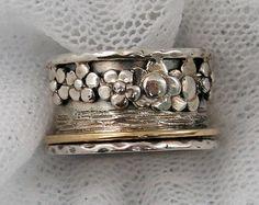 Spinner ring.worry rings. Meditation Ring. Sterling silver