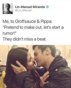 Proof that Groff will make out with anyone the Internet tells him to