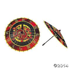 Chinese New Year Parasol, Costume Accessories, Costume Props & Kits - Oriental Trading Chinese Theme, Chinese New Year, Kai Lan, Asian Design, Paper Fans, Lego Ninjago, Ninjago Party, Chinese Characters, Dragon Design