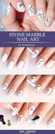 Marble Nails: Easy Way To Create Trendy Manicure Diy Nails, Cute Nails, Marble Nail Art, Manicure Y Pedicure, Prom Nails, Cute Nail Designs, Nail Tutorials, Simple Nails, Trendy Nails