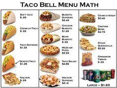 Menu Math- 4 restaurants + worksheets