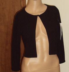 Black Shrug /Jacket / Bolero by La Belle Made in USA Size Small NWT Vintage.