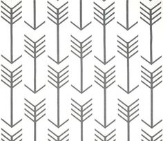 white with grey arrow cotton drapery fabric by the yard designer grey home decor fabric upholstery fabric nordic scandi tribal arrow - Home Decor Fabrics By The Yard