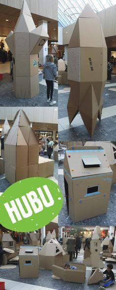 Some constructions in the cardboard building competition at Vestsjællandscenteret in Slagelse. Competition, Construction, Building, Creative, Travel, Voyage, Buildings, Viajes, Traveling