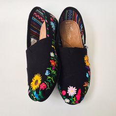 Night Blooms Flower Toms Custom Shoes