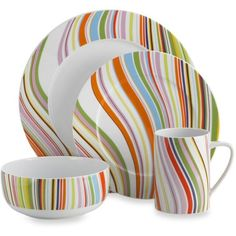Oneida Marble Swirl 4-Piece Dinnerware Set ($30) ❤ liked on Polyvore featuring home, kitchen & dining, dinnerware, oneida dinnerware set, marble bowl, colorful dinnerware, 4 piece dinnerware set and oneida