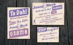 Downloadable wedding invitation and save the date suite - see details at http://themerrybride.org/2014/11/08/wedding-invitations-on-etsy-com/