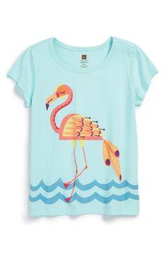 'Marala' Flamingo Graphic Tee (Toddler Girls, Little Girls & Big Girls)