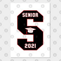 Senior In High School Class Of 2021 - High School Senior Or College Graduate - Home Decor Wall Poste High School Classes, In High School, High School Seniors, High School Graduation Gifts, Graduate School, Graduation Cap Drawing, Senior Trip, Senior Year, Senior Gifts