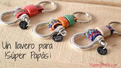 Regalo para el día del padre 2014: Un llavero DIY y muy original Handmade Keychains, Diy Projects To Try, Project Ideas, School Projects, Fathers Day, Diy And Crafts, Personalized Items, Beads, Accessories