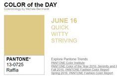 ...y el color de hoy es Rafia, un color rápido, ingenioso, con esfuerzo. Más info en http://www.pyma.com/general/y-los-colores-pantone-de-esta-semana-sonsemana-del-13-al-19-de-junio/