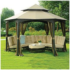 View Wilson FisherR Southbay Hexagon Gazebo With Netting Deals At Big Lots