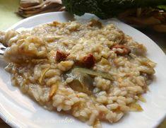 risotto carciofi salsiccia e scamorza