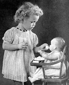 Little Girl's Vintage Dress. I would want a closet of these vintage dresses. And, the vintage little girl, doll, highchair, etc..........